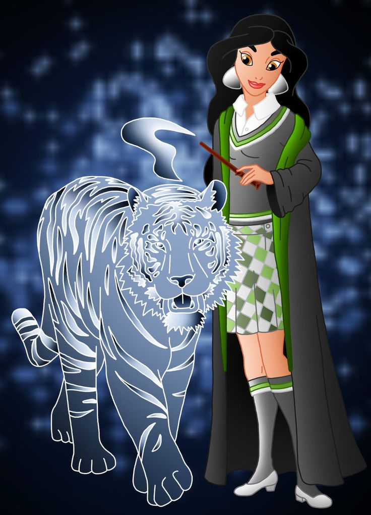 Jasmine as Slytherin