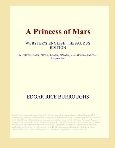 A Princess of Mars (Webster's English Thesaurus Edition) ... http://amzn.to/2mKSclT