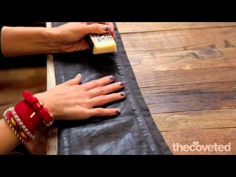 How to wax your jeans to give them that leathery, rock n' roll look!