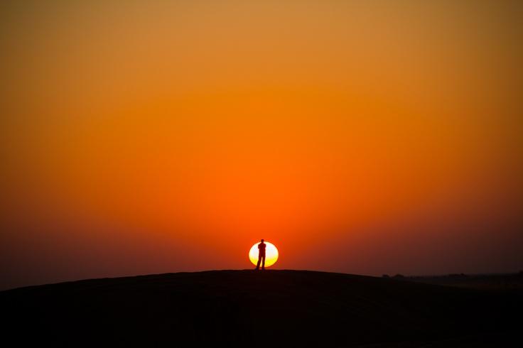 Sunset in Jaisalmer, INDIA