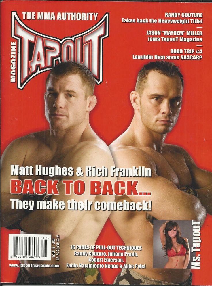 Tapout MMA magazine Matt Hughes Rich Franklin Randy Couture Jason Miller NASCAR