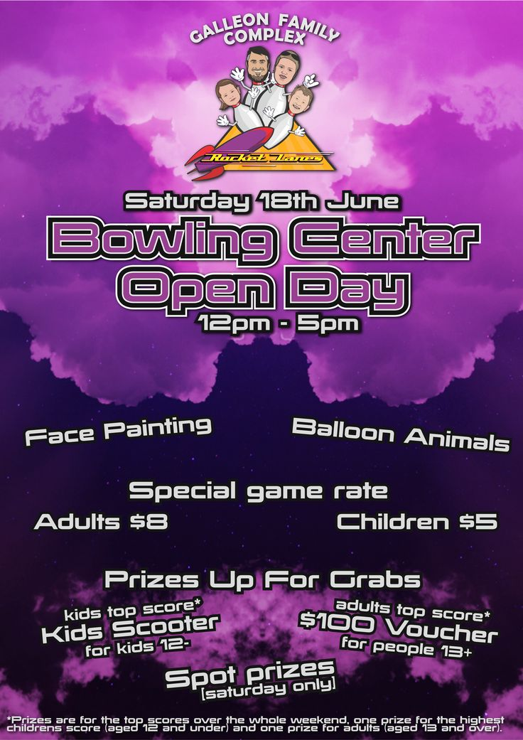 We've now run the new lanes in so it's time to have a big open day for the revamped bowling center.