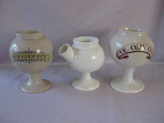 A group of three English creamware syrup pots Circa 1800
