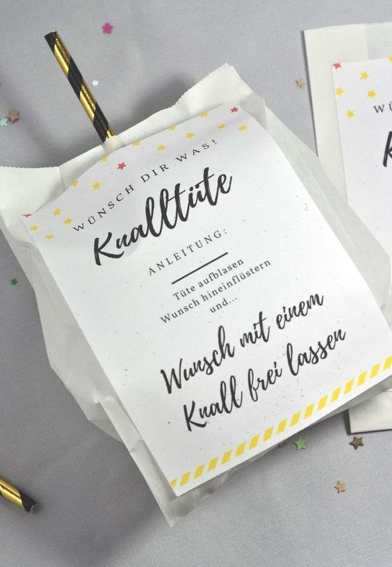 Knalltüte DIY-Idee für die Silvesterparty Ersulle