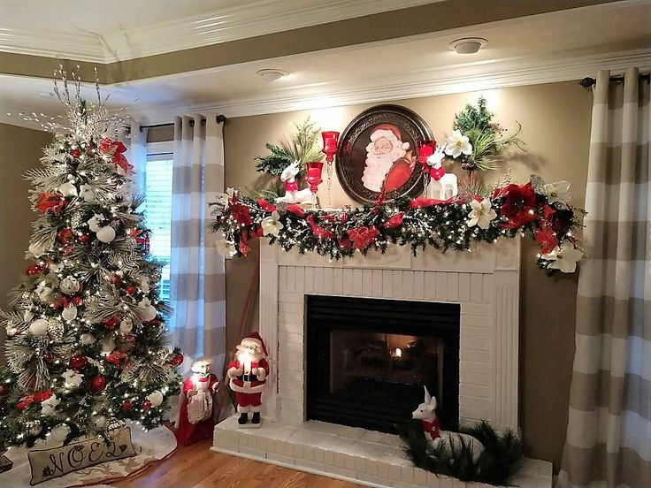 HOW I DECORATED MY MANTEL FOR CHRISTMAS & HOW I MADE MY TREE LOOK FLOCKED