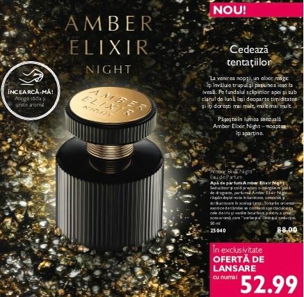 Noul parfum Oriflame: Amber Elixir Night - cod 25040