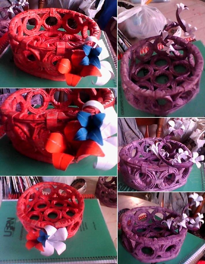 Reciclagem: cestas feitas de jornal - http://www.youtube.com/watch?v=jEaBf4aPY0c=PL10485DA9C024F2FE=49