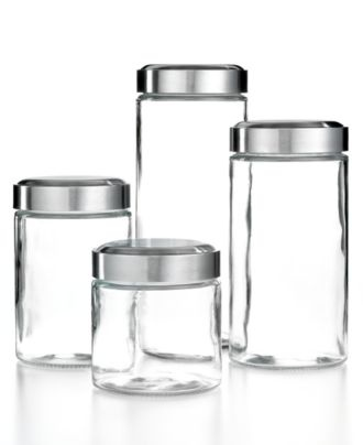 ... Glass Kitchen Canisters Sets