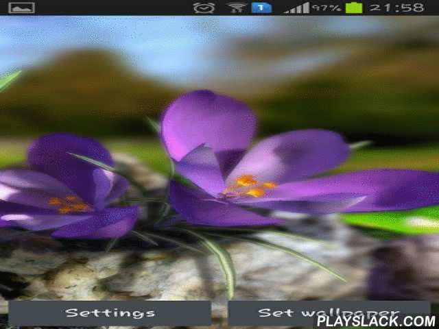 Nature Live: Spring Flowers 3D  Android App - playslack.com , Nature live: Spring flowers 3D - spring live wallpapers with impressive parallax phenomenon. These luminous and multicoloured flowers will be a pretty embellishment for the desktop of your smartphone or tablet PC.