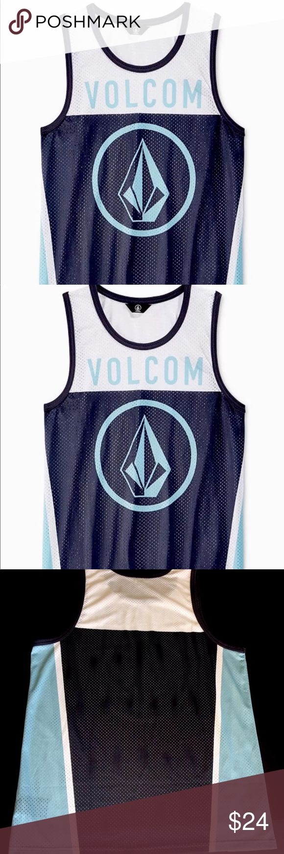"MEN'S VOLCOM ""STONE STAR""  SLEVEELESS MESH TANK BRAND NEW MEN'S VOLCOM ""STONE STAR""  SLEVEELESS MESH TANK.  THIS IS A BRAND NEW ""WITHOUT TAG""  100% AUTHENTIC VOLCOM MERCHANDISE.  STYLE: A02316D3  COLOR: MULTIPLE OF BLUE/WHITE  SIZE: REGULAR MEN'S LARGE.  MSRP: $40.00 + TAX Volcom Shirts Tank Tops"