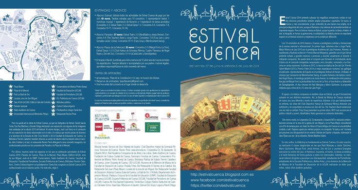 Estival 2014 - Folleto Frontal