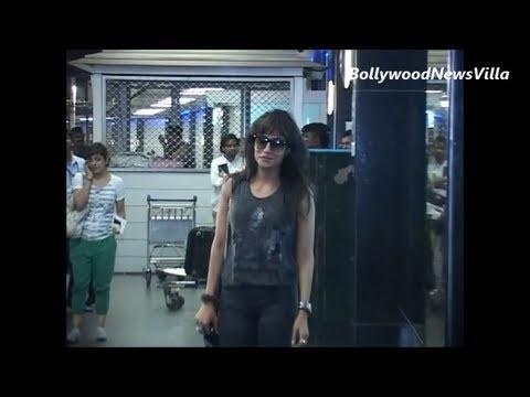 chitrangada singh returns from TOIFA awards spotted at mumbai airport.