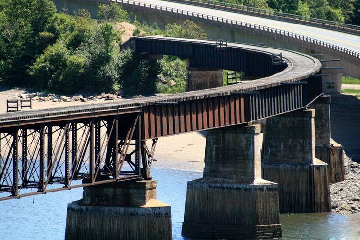 We love NS  ..    Bear River railway bridge ..  no longer exists