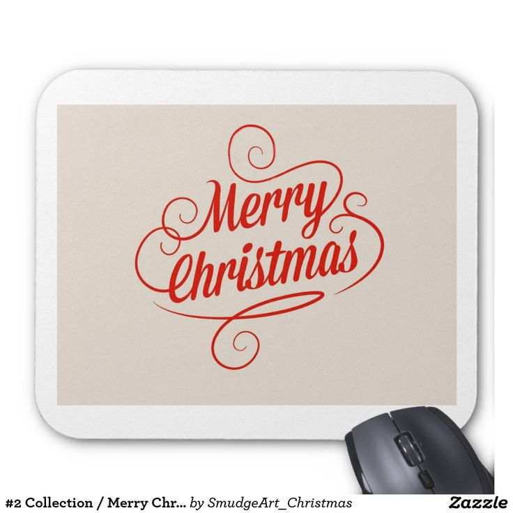 #2 Collection / Merry Christmas Mouse Pad