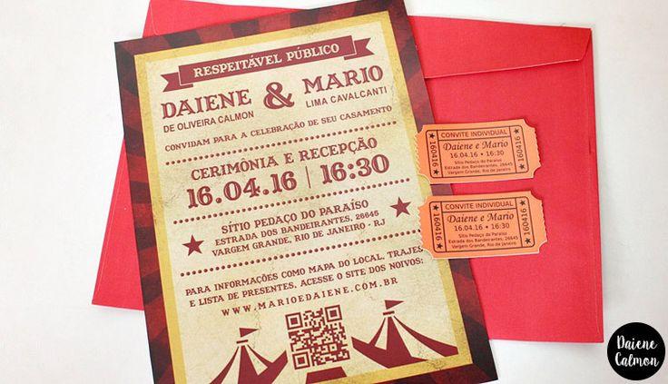 Nosso Convite de Casamento DIY (Tema: Circo) - Circus Wedding Theme