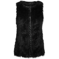 Black Faux Fur Gilet Jacket