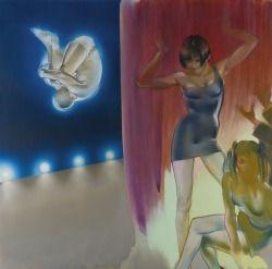 Allen Jones (British, b. 1937), Spin, 2008. Oil on canvas, 72 x 72 in.