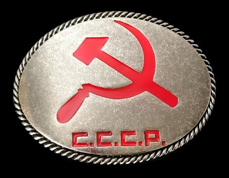 Russia USSR Russian Soviet Union CCCP Flag Belt Buckle #CCCP #russia #russian #sickle #sovietunionflag #sovietunion #flag #flagbuckle #beltbuckle #coolbuckles