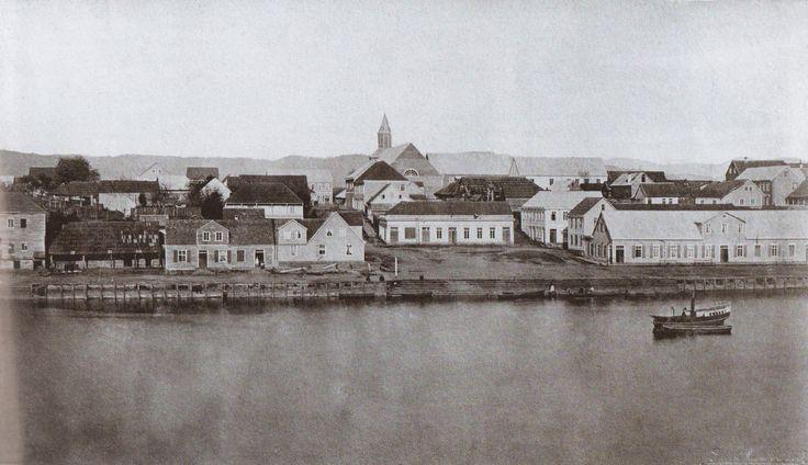 Avenida Colón y antigua plaza de Valdivia 1871