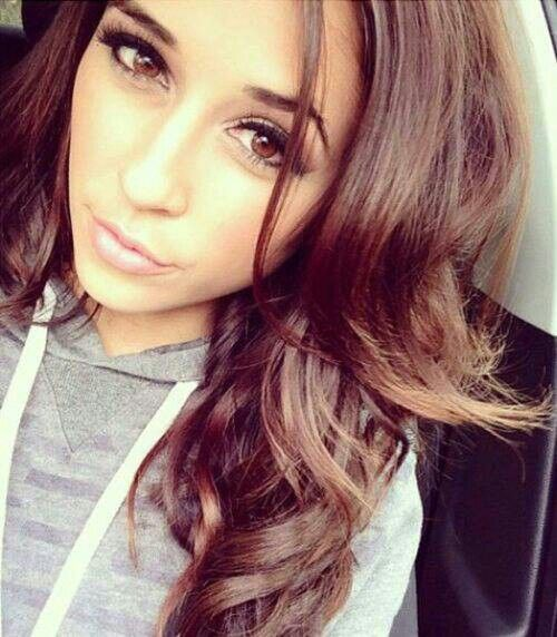 pics for gt pretty tumblr girl with brown hair and brown eyes