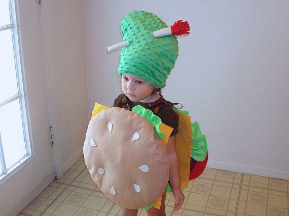 Kids Costume Cheeseburger Hamburger Halloween Costume Purim Dress Up Photo Prop Boys Costume Pickle Costume Children Toddler