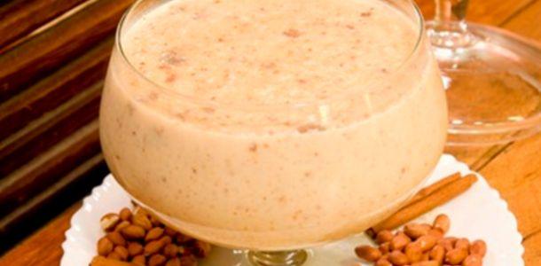 receita canjica com amendoim