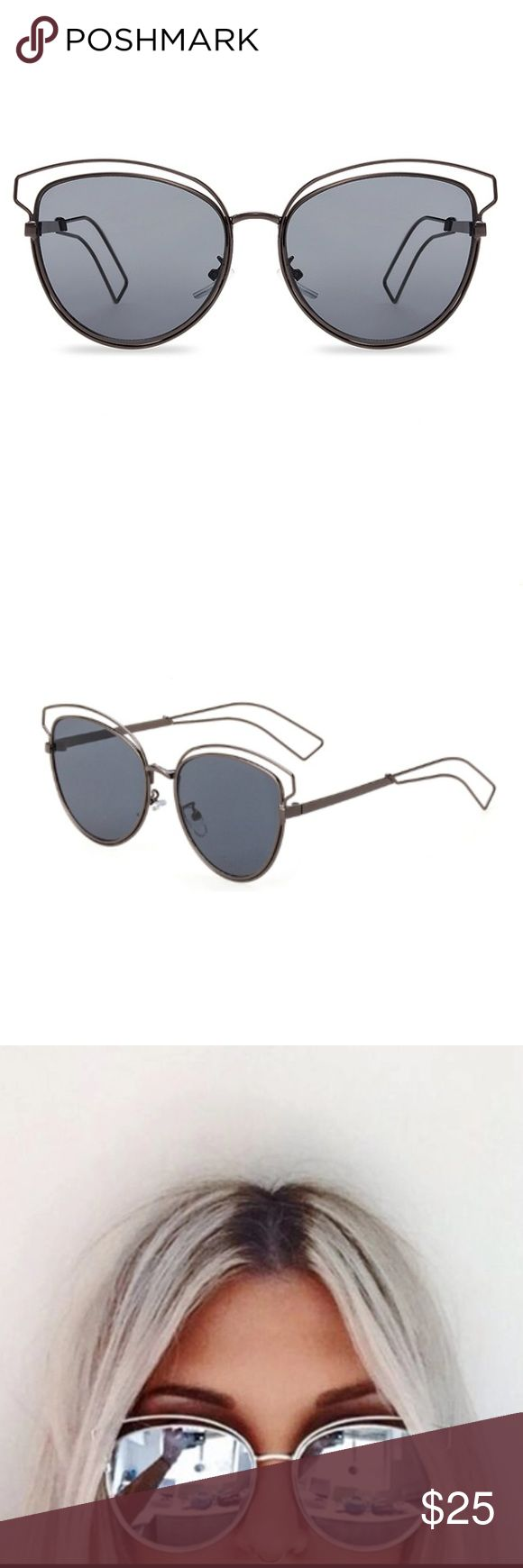 New Flat Mirror Summer Sunglass Cat eye UV400 sunglasses. Lens height 54mm. Lens width 57mm. Accessories Sunglasses