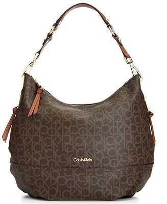 Calvin Klein Handbag Hudson Ck Monogram Hobo Handbags Accessories Macy S