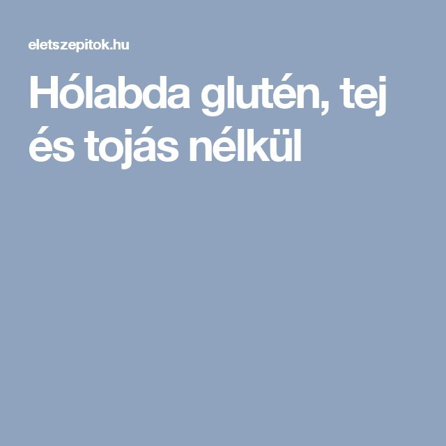 Hólabda glutén, tej és tojás nélkül