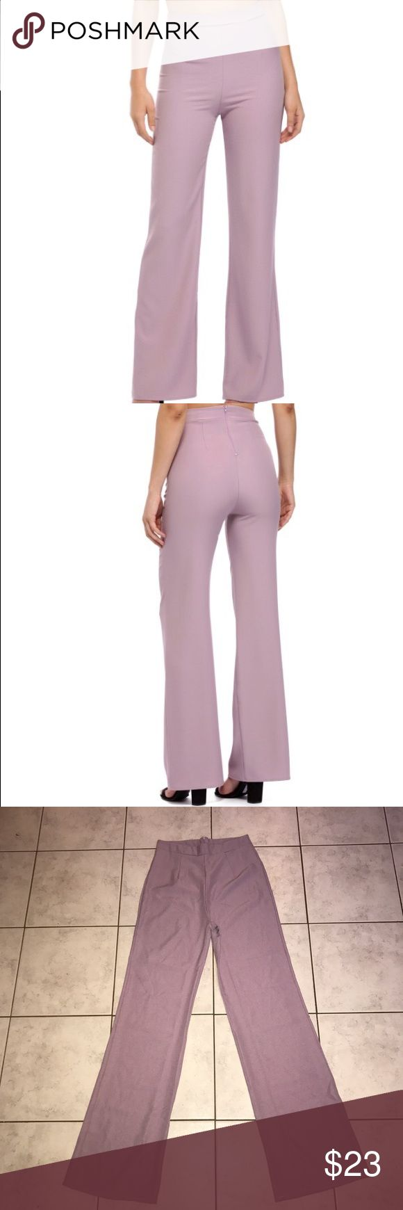"Windsor store all that class high waist pants Windsor store all that class high waisted wide leg dress pants in lavender. New with tags. Inseam 31"" rise 12"" waist 12.5"". Size small. WINDSOR Pants Wide Leg"