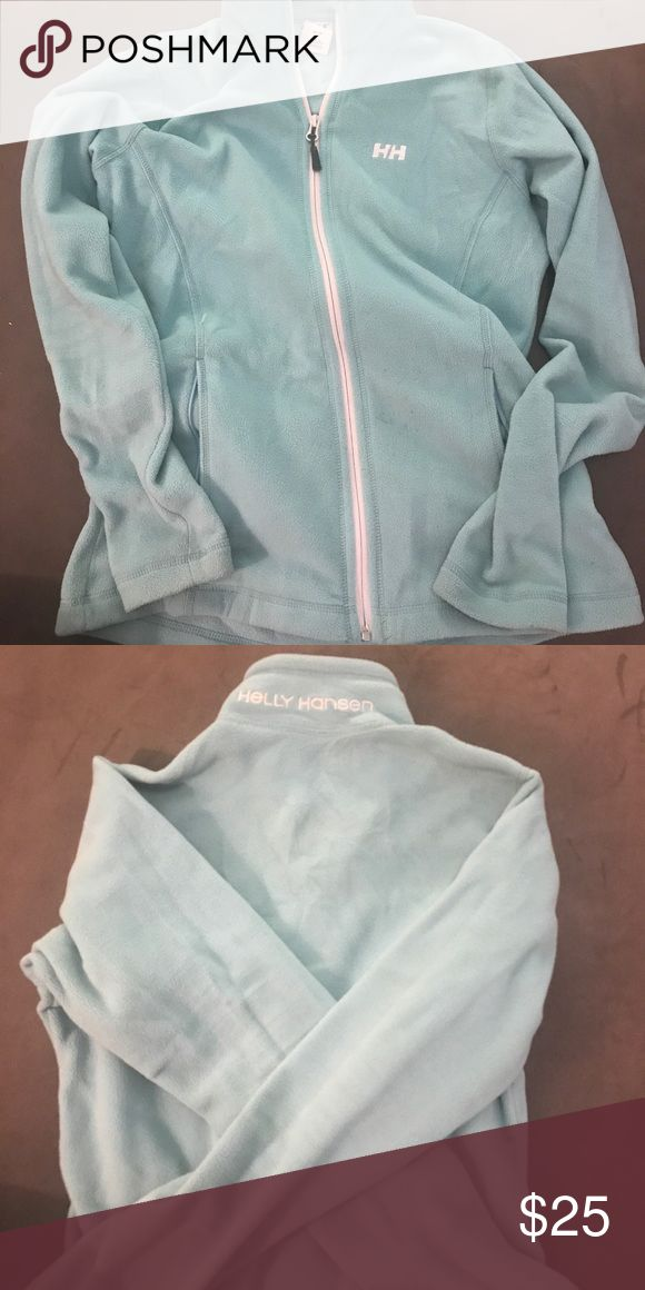 HELLY HANSEN Full Zip Daybreaker Fleece Jacket. M Helly Hansen Crisp Blue Full Zip Fleece. Size Medium. A few stains on the front bottom right. Great for a summer night on the ocean or fall afternoon! Helly Hansen Jackets & Coats