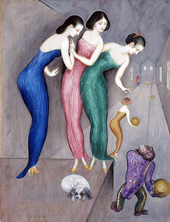 Nils Dardel 1922 Dreams and fantasies (bowling)