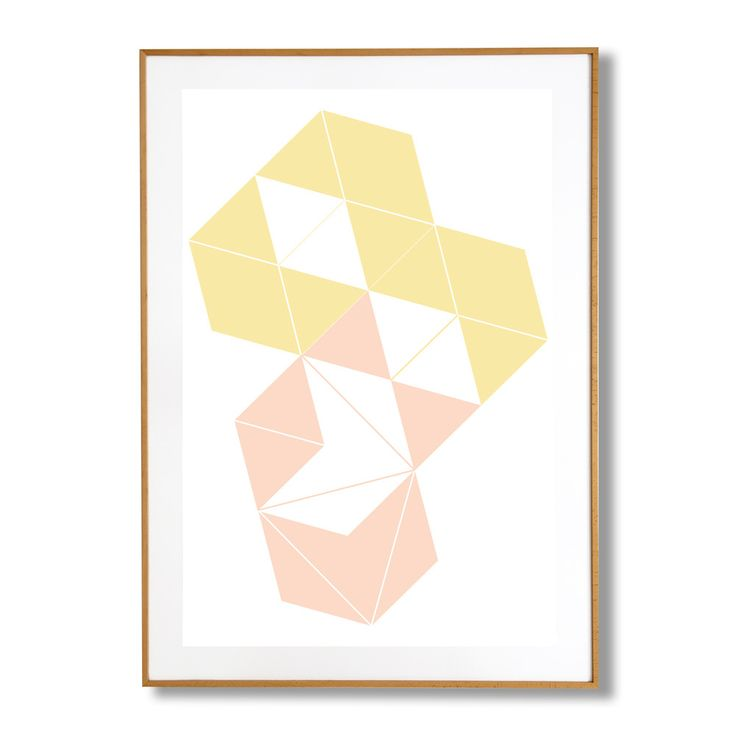 STUDY IN SHAPES   BOXES   PEACH & YELLOW