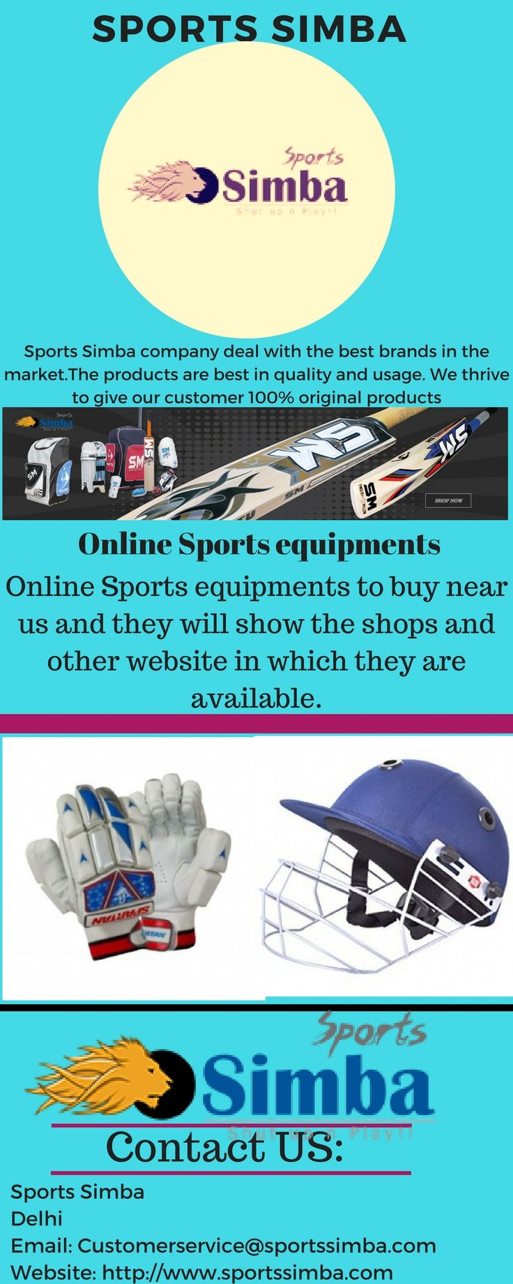 Sports Simba is one such a trusted online shopping site which sells products related to only sports. It has wide variety of high quality sports products related to all sports.
