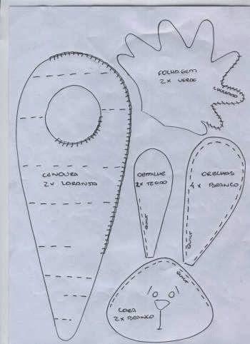 Artesanato e Cia: bichos em tecido ou feltro