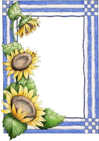 sunflower | Border and corner designs | Pinterest ... Corner Page Sun Clipart
