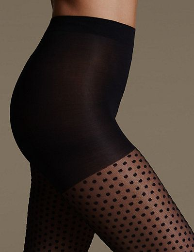 Light Control Spotted Mesh Bodyshaper Tights | M&S