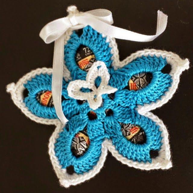 portaovetti fiore | Hobby lavori femminili - ricamo - uncinetto - maglia