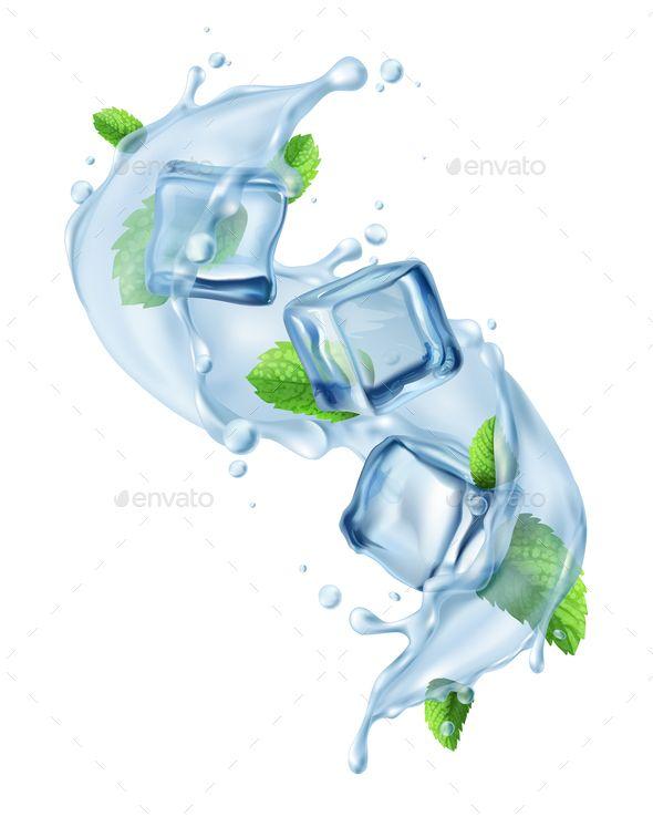 Ice Cube Water Splash Ice Logo Ice Cube Graphic Design Photoshop