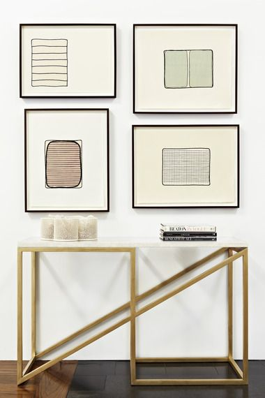 Who needs art when you have this gorgeous Zoid table by Meier/Ferrer framing your walls?