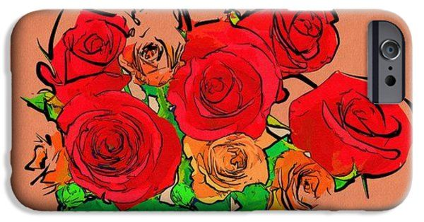 Painting Flowers Pictures iPhone Case #art #flowers