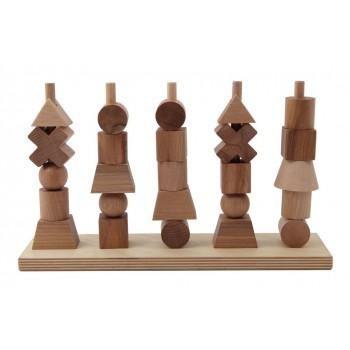 Wooden Story - Natural Shapes Stacking Blocks | Minimacko