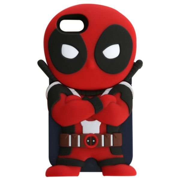 Marvel Chara-Covers Deadpool iPhone 5/5S Case   Hot Topic ($6.98) ❤ liked on Polyvore featuring accessories, tech accessories и phone cases