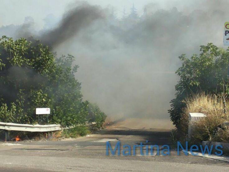 Incendio in via Ceglie