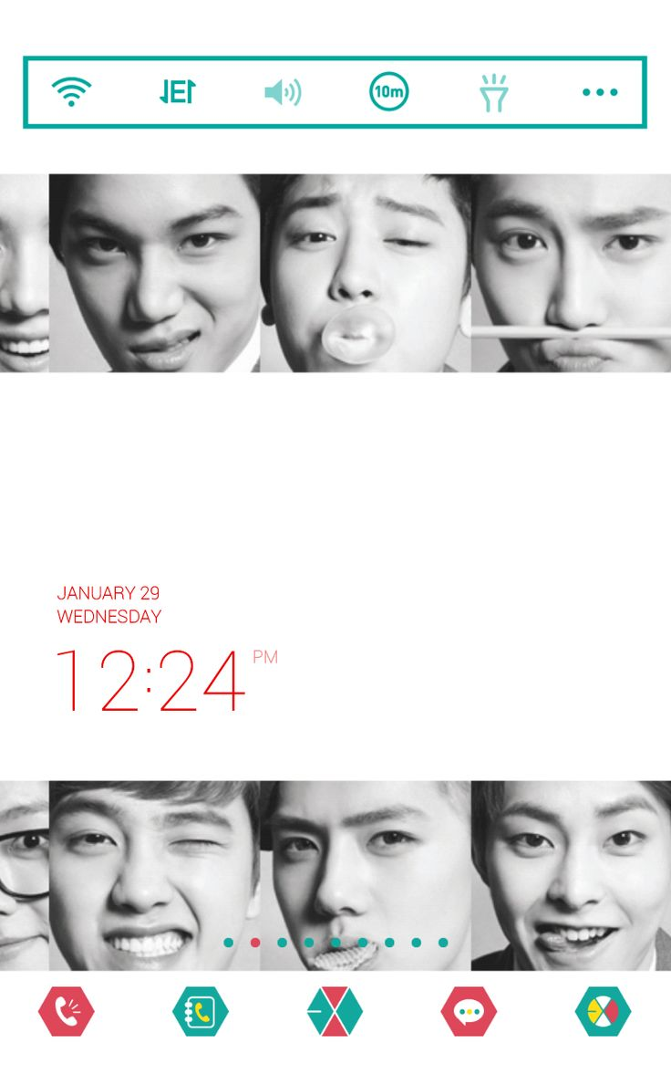 Google theme kpop exo - Try Changing Colors Fonts Size Of The Clock Widget On Dodol Launcher Exo Smtownkpop
