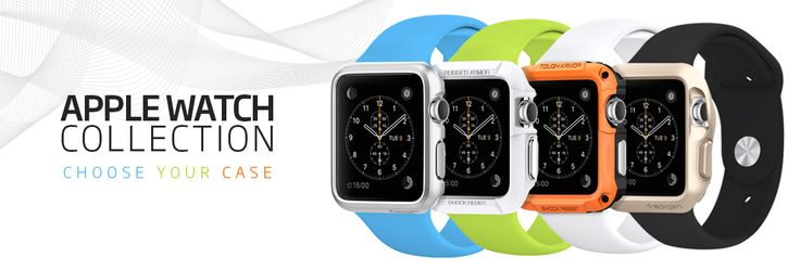 Apple Watch - Spigen's covers come 5 different styles with varying degrees of coverage and aesthetics. Multiple colors as well. These will be a nice way to change up your Apple Watch, without spending hundreds of dollars on Apple bands alone.