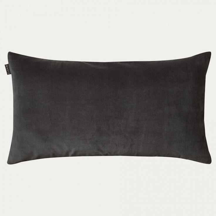 Paolo Cushion Cover – Dark Charcoal Grey   Autumn   Bedding   Cushion covers   Essentials   Living   Linum