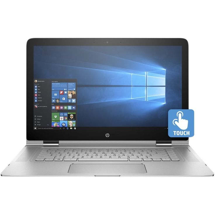 "HP - 2-in-1 15.6"" Refurbished 4K Ultra HD Touch-Screen Laptop - Intel Core i7 - 16GB Memory - 256GB SSD - Natural silver"