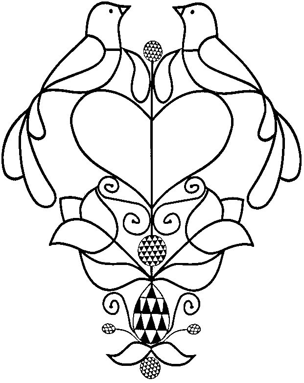 pennsylvania dutch hex sign coloring pages - photo #29