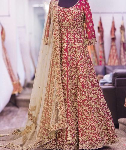 Designer-Bollywood-Gown-1piece-Lehenga-Saree-Suit-Festival-Wedding-Wear-TrendyJS